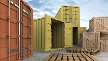 e16 metal storage pod custom house